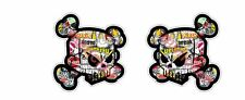 2x Skull Stickerbomb Aufkleber Sticker Ken Block Oldschool Hotrod Hoonigan Retro