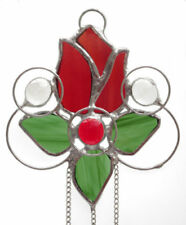 Art Glassware Suncatcher Red Stained Glass
