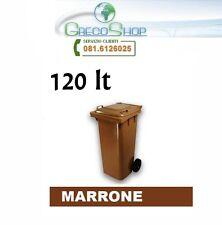 Cassonetto/Pattumiera/Bidone per raccolta rifiuti uso esterno 120lt marrone