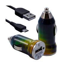Chargeur voiture allume cigare USB avec câble data avec CV06 pour Sony Ericsson