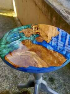 Epoxy Walnut Wooden Sofa Center Coffee Table Restaurant Decorative Made To Order