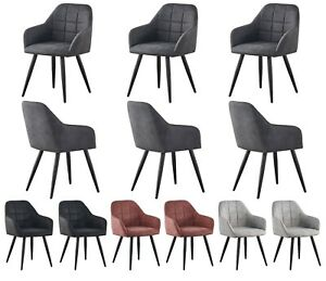 Set of 2 Faux Matte Suede Leather Dining Chairs Accent home & restaurants Adrian