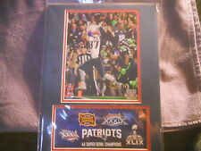 "SUPERBOWL 46   ""GRONKOWSKI""  PHOTO AND 1ST DAY COVER   2/01/2015  3 TIME SB MVP"