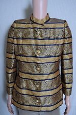 Vintage '80s Victor Costa Gold formal button front Women's jacket 12