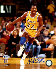 MAGIC JOHNSON AUTOGRAPHED SIGNED 8X10 PHOTO LOS ANGELES LAKERS BECKET BAS 174311