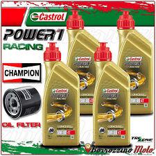 TAGLIANDO OLIO CASTROL POWER 1 RACING 5w40 + FILTO CHAMPION HONDA CBR600 RR 2006