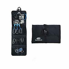 New listing Rock Climbing Gear Storage Bag Foldable Waterproof Roll Up D-Ring Black