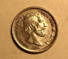NETHERLANDS - Willem III - 5 Cents - 1859 - Die Clash - Brilliant Uncirculated!