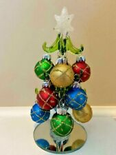 """Christmas Tree Mini Glass Tree with Ornaments 6.5"""" Tall (FREE SHIPPING) 3"""