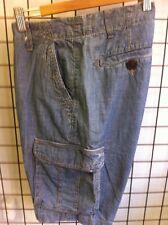 """Siguiente Pantalones cortos estilo cargo de hombre talla 28"""" Cintura Azul"""