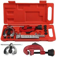 10x Brake Pipe Flaring Kit Fuel Repair Tool Set Tube Cutter + Storage Box