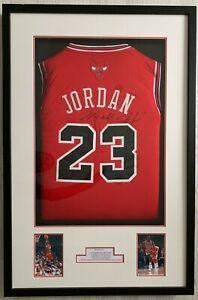 Signed Michael Jordan Jersey - Chicago Bulls - Framed Display With COA