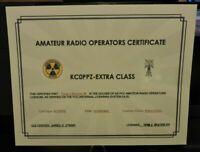 Amateur Radio Operators Certificate-Ham Radio/All Classes