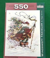 550 Pc Windswept Traveler Christmas Jigsaw PUZZLE Spilsbury--MULTI-PUZZLE DISC!