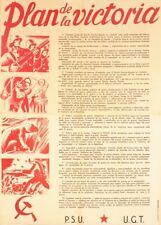 Plan of Victory, 1937, Spanish Civil War Propaganda Poster