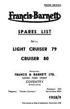 (0592) 1958-1960 Francis Barnett Cruiser 79 80 parts book