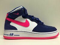 SCARPE SNEAKERS DONNA NIKE ORIGINAL AIR FORCE 1 MID 518218 PELLE SHOES SCARPETTE