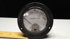 ELECTRICAL PANEL METER TACHOMETER ROUND 3-1/2 INCH 2500 ENGINE RPM