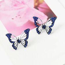 Trendy Jewelry Full Rhinestone Butterfly Stud Earring for Women Gift