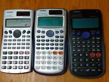 Lot of 3 Casio Solar Calculators (fx-115Ms, fx-115Es Plus & fx-300Es Plus)