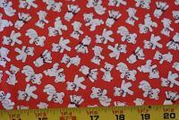 """By 1/2 Yd, """"Storybook Playtime"""" on Red Quilt Cotton/Windham/Whistler, N3652"""