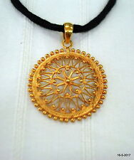 ethnic sterling silver gold vermeil gold gilded pendant necklace handmade