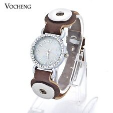 10pcs/lot 18mm Snap Button Watch Bracelet DIY Leather Jewelry NN-320*10