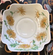 GEORGES BOYER LIMOGES FRANCE  WHITE PORCELAIN BOWL WITH GORGEOUS YELLOW FLOWERS