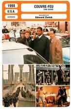 FICHE CINEMA : COUVRE-FEU - Washington,Willis,Bening,Zwick 1998 The Siege