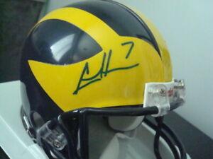 Chad Henne AUTOGRAPHED Michigan Wolverines Mini Helmet SIGNED