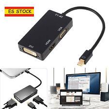 Mini Display Port Thunderbolt a DVI / VGA / HDMI Adaptador para MacBook iMac