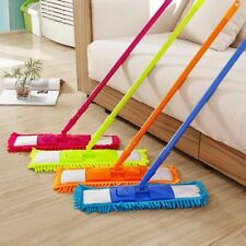 Extendable Microfiber Flat Mop Cleaner Sweeper Wet & Dry Floor Dust Cleaning UK
