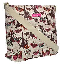 Pari Butterfly Womens School Satchel Bag Messenger Ladies Shoulder Bag Crossbody
