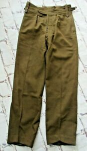 """Vintage British Army No.2 wool Dress trousers Size 29 W30/32"""""""