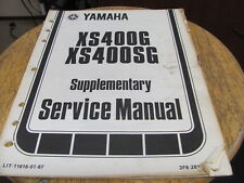 Yamaha1979  XS400G Xs400SG  Supplementary Service Manual 26pgs