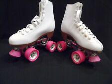 Chicago Roller Skates, Quad Skates, Women's Size 6 (or 7), White & Pink [New]