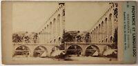 Roquefavour Pont Del Chemin Da Ferro Francia Foto Stereo Vintage Albumina c1860