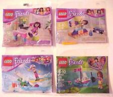 Lot of 4 Lego Friends Olivia's Desk Polybag 30102 30400 30402 30403 MISB