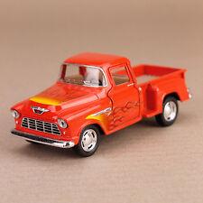 1955 Orange Chevrolet Stepside Pickup Ute with Flames 1:32 Scale Die-Cast Model