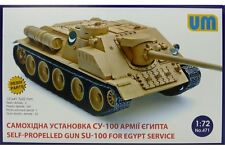 UNIMODELS 471 1/72 Self-propelled Gun Russian SU-100 in Egypt Service