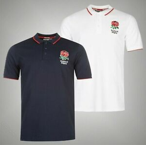 Mens RFU Short Sleeves England Rugby Core Polo Shirt Sizes from S to XXXL