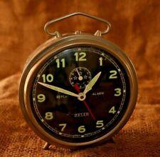 Vintage Alarm Clock REPEAT ALARM PETER, Black Color, Rare Clock, Made In Germany