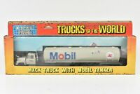 ERTL Trucks of the World Mack Truck with Mobil Tanker Trailer #1443 NIB 1:64
