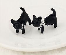 Black Cat Pearl Stereoscopic Fun Ear Stud Unique Fashion Piercing Earring Hot