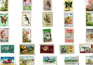 A LOVELY MIX OF DIFFERENT COMMEMORATIVE KILOWARE STAMPS FROM KENYA