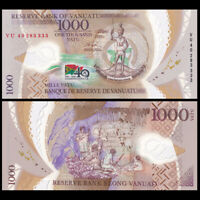 Vanuatu 1000 Vatu, 2020, P-New, 40th Independence COMM., Polymer, Banknote, UNC