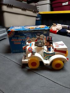 Vintage 1970s TY Battery Operated Jalopy Car With Original Box Htf Used