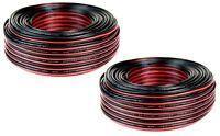 2 Rolls 20 Gauge 100 Feet Red Black Speaker Wire Copper Clad CCA (200 FT total)