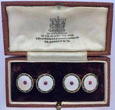 A Magnificent Pair Of Edwardian Enamel & Ruby Gem-set Cufflinks Circa 1900's