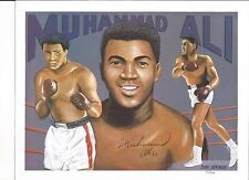 Muhammad Ali Autographed limited edition litho #31 of 500 hand signed SGC LOA